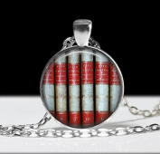 Book Jewellery ,Book Pendant, Love Books Literary Necklace, Library Jewellery