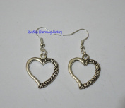 silver heart earrings; simple silver earrings,Gift for Woman,Jewellery Gift, Heart Jewellery