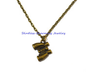Binoculars Necklace - cute necklace telescope bird watching quirky necklace funky necklace geek necklace