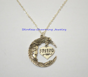 Moon And friends Necklace Moon Necklace friends Jewellery Pendant Necklace BFF Graduation Gift