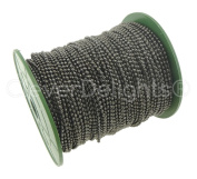 CleverDelights Ball Chain Roll - 330 Feet - Gunmetal Colour - 2.4mm Ball - #3 Size - 100 Metres - Bulk Chain Spool