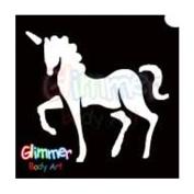 Glimmer Body Art Glitter Tattoo Stencils Unicorn