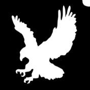 Glimmer Body Art Glitter Tattoo Stencils - Eagle