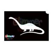 Glimmer Body Art Glitter Tattoo Stencil Brachiosaurus 5/pk