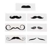 Life-size Moustache Tattoo Assortment 12ct