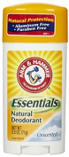 Arm & Hammer Essentials Natural Deodorant Solid, Unscented 70ml Each