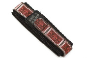 CHUMS THE BAND 18-20MM HOOK & LOOP RED TRIBAL PRINT ONE PIECE SPORT WATCH BAND