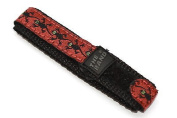 CHUMS THE BAND 12-14MM HOOK & LOOP RED LIZARD PRINT ONE PIECE SPORT WATCH BAND