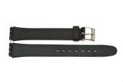 12MM BLACK RUBBER WATCH BAND STRAP FITS SWATCH SIZE SMALL