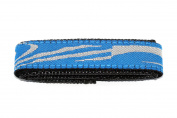 CHUMS THE BAND 18-20MM HOOK & LOOP BLUE SWIRL ONE PIECE SPORT WATCHBAND