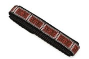 CHUMS THE BAND 14-16MM HOOK & LOOP RED TRIBAL ONE PIECE ACTION SPORT WATCHBAND