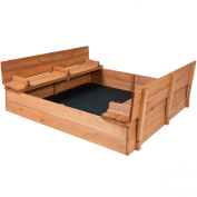 Best Choice Products Cedar Sandbox with Two Bench Seats