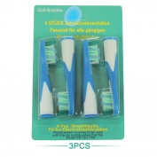 12Pcs Replacement Brush Heads for Braun Oral-b Sonic Complete Toothbrush SR18