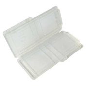 Lab Safety Supply Plastic Slide Box, Holds 1 Slide, Transparent/Clear, 5PTL0