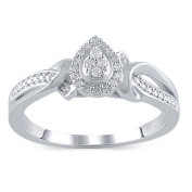 Hold My Hand 1/10 Carat T.W. Diamond Sterling Silver Promise Ring