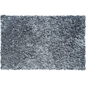 The Rug Market Shaggy Raggy Grey Area Rug, Size 1.4m x 2.3m