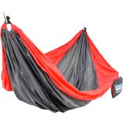 Equip 2-Person Nylon Travel Hammock, Red/Grey: