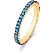 18kt Gold Plated Brass & Genuine Turquoise Band