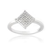 Sterling Silver 1/10ct Diamond Diamond-Shape Promise Ring