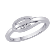 Sterling Silver 1/20 ct. Diamond Promise Ring
