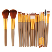 GBSELL 18 pcs Fashon Makeup Brush Set Tools Make-up Toiletry Kit Wool