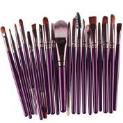 FANOUD 20 pcs Make-up Toiletry Kit Brush Make up Wool Brush Set tools