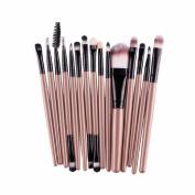 FANOUD Women 15 pcs/Sets Eye Shadow Foundation Eyebrow Lip Brush Makeup Brushes Sets Tools
