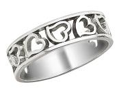 Heart Promise Ring in 14K White Gold