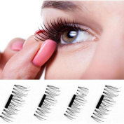 Sinwo Ultra-thin Magnetic Eye Lashes 7mm 3D Reusable False Eyelashes Magnetic Fake Eyelashes
