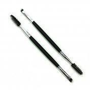 Merssavo Black 14cm Double Ended Eyelash Brush Eyebrow Brush 2 in 1 Makeup Cosmetic Brushes for Xmas Gift