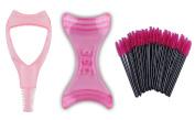 Eye Makeup Set, Mascara Applicator Guide Tool and Eyeliner Template and 50 Pcs Disposable Mascara Brushes