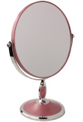 Double-Sided 20cm Round Tabletop Vanity Makeup Mirror in 4 Colours by bogo Brands