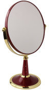 Two-Sided Round Tabletop Vanity Makeup Mirror with 3X Magnification by bogo Brands