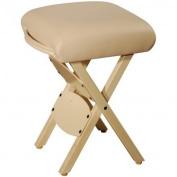 Best Massage Wooden Folding Massage Stool, Beige