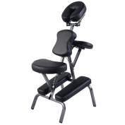New Portable PU Leather Pad Travel Massage Tattoo Spa Chair W/Carrying Bag Black