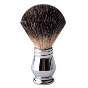 CSB Black Badger Hair Shaving Brush with Polished Chrome Metal Handle Shave Brush