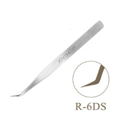 JOVISA Made in Japan SUS304 Stainless Steel Anti-Static Tweezers for Eyelash Extension for Volume Lashes, Nail Art Tweezers, Jewellery Making, Electronics, Straight and Curved Tip Tweezers -
