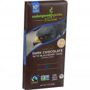 Endangered Species Chocolate Endangered Species Natural Chocolate Bars - Dark Chocolate - 60 Percent Cocoa - Blackberry
