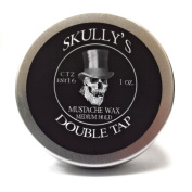 "Skully's ""Double Tap"" Moustache Wax 30ml Screw Top Tin, Medium hold"