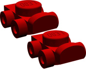 LEGO Red Roller Skates [One Pair]