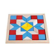 YouMiYa Geometry Tangrams Logic Brain Training Games IQ Wooden Puzzle Kids Toys Gifts