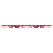 3.7m Plastic Patriotic American Flag Bunting