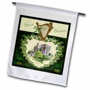 3dRose Erin Go Braugh Blarney Castle (Vintage), Garden Flag, 30cm by 46cm