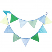 Da.Wa 3.3M Colourful Bunting Flag Banner with 12 Triangle Pennant For Birthday Party Wedding Decoration