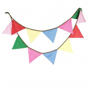 Da.Wa Colourful Bunting Flag Banner with 12 Triangle Pennant For Birthday Party Wedding Decoration