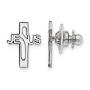 Sterling Silver Jesus Cross Tie Tac