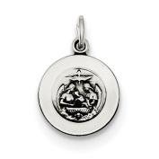 Sterling Silver Antiqued Baptismal Medal