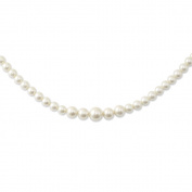 Gold-tone Graduated Simulated Pearl 41cm w/ext Necklace