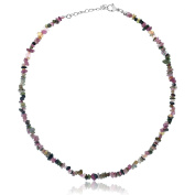 Women's Genuine Natural Tourmaline Stone Chip 43cm Necklace With 2.5cm Extender