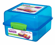 Sistema Lunch Cube, 1.4 L - with contrasting Clips, Blue
